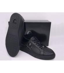 Мужские кроссовки Philipp Plein (Филипп Плейн) кожаные с черепом Black