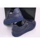 Мужские кроссовки Philipp Plein (Филипп Плейн) кожаные с черепом Blue