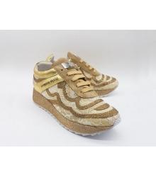 Женские кроссовки Philipp Plein (Филипп Плейн) кожаные со стразами Gold