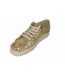 Женские кроссовки Philipp Plein (Филипп Плейн) Low Gold