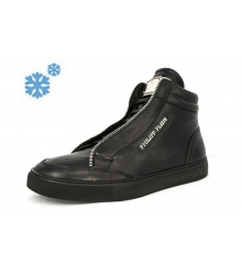 Зимние ботинки Philipp Plein Shadow Edition High Black Winter