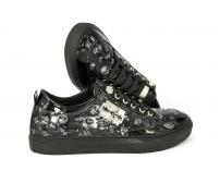 Осенние ботинки Philipp Plein Skull Black Gloss