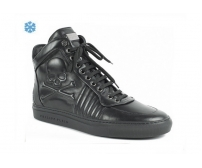 Зимние ботинки Philipp Plein Skull Black High Winter