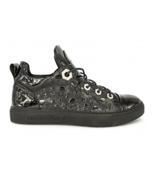 Ботинки Philipp Plein (Филипп Плейн) Skull Edition Black Gloss