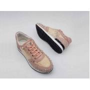 Кроссовки Philipp Plein (Филипп Плейн) текстиль со стразами в сеточку Pink