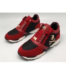 Женские кроссовки Philipp Plein (Филипп Плейн) замшевые Red