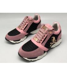 Женские кроссовки Philipp Plein (Филипп Плейн) замшевые Pink