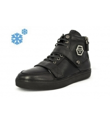 Зимние ботинки Philipp Plein Zipper Black Winter