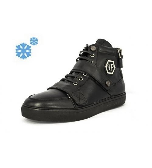 Зимние ботинки Philipp Plein Zipper Black Winter