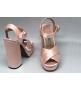 Босоножки женские Prada (Прада) атласные Pink