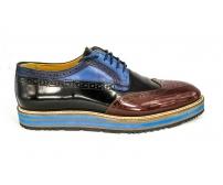 Осенние ботинки Prada Black/Brown/Blue