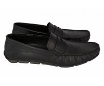 Мокасины мужские Prada (Прада) Black Leather