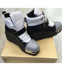 Ботинки женские Prada (Прада) Black\White