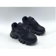Женские кроссовки Prada (Прада) Cloudbust Thunder кожаные на толстой подошве Black