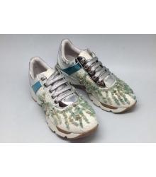 Женские кроссовки Prada (Прада) FL Silver