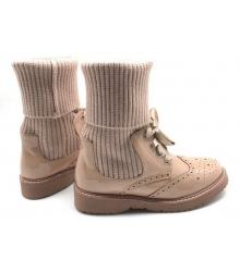 Женские ботинки Prada (Прада) кожаные Biege