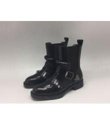 Женские сапоги Prada (Прада) кожаные Black