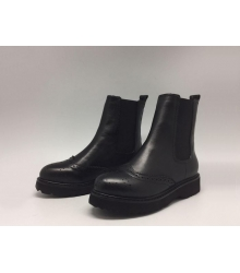 Сапоги женские Prada (Прада) кожаные Black