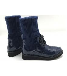 Женские ботинки Prada (Прада) кожаные Blue