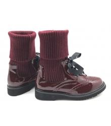 Женские ботинки Prada (Прада) кожаные Bordo