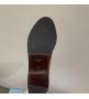 Женские сапоги Prada (Прада) кожаные дополняет стильный ремешок с пряжкой Black