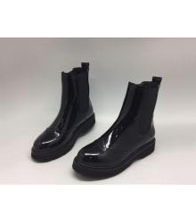 Женские сапоги Prada (Прада) кожаные лаковые Black