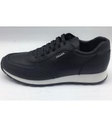 Кроссовки мужские Prada (Прада) кожаные Sport Black