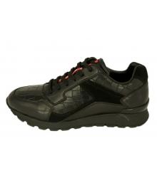 Кроссовки мужские Prada (Прада) кожаные Sport New Black