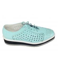 Летние ботинки женские Prada (Прада) Light Blue