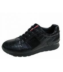 Кроссовки мужские Prada (Прада) New Black Leather
