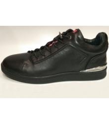 Кеды мужские Prada (Прада) осенние кожаные Sport Black