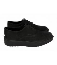 Ботинки Prada (Прада) Oxford Black Suede
