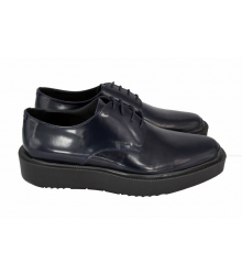 Ботинки Prada (Прада) Oxford Blue Leather