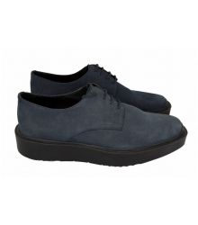 Ботинки Prada (Прада) Oxford Blue Suede