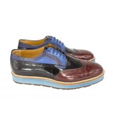 Туфли Prada (Прада) Oxford Brown/Black/Blue