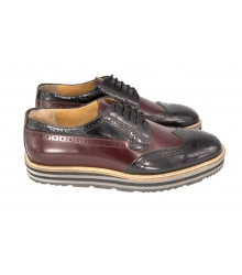 Туфли Prada (Прада) Oxford Brown/Black
