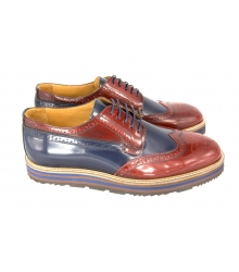 Туфли Prada (Прада) Oxford Brown/Blue