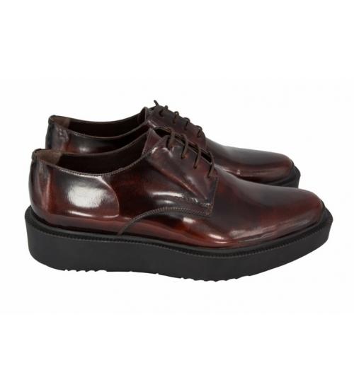 Ботинки мужские Prada Oxford Brown Leather