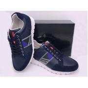 Мужские кроссовки Prada (Прада) Sport кожаные на шнурках Blue