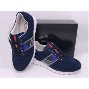 Мужские кроссовки Prada (Прада) Sport замшевые на шнурках Blue