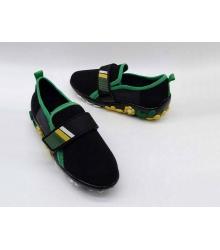 Женские кроссовки Prada (Прада) текстиль на липучке с цветами Black/Green
