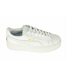 Женские кроссовки Puma (Пума) Creeper by Rihanna Full White