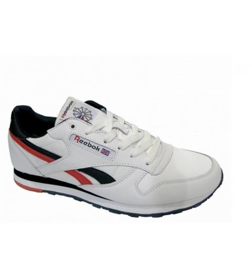 Кроссовки большого размера Reebok Classic (Рибок Классик) White/Red