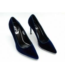 Туфли женские Rene Caovilla (Фернандо Рене Каовилла) замшевые Dark Blue