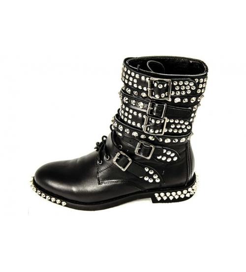 Ботинки женские Yves Saint Laurent (Сен Лоран) Black