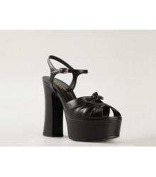 Женские босоножки Yves Saint Laurent (Ив Сен-Лоран) Candy кожаные Black