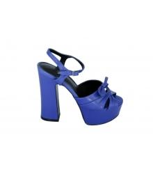 Босоножки женские Yves Saint Laurent (Ив Сен-Лоран) Candy кожаные Blue