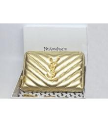 Кошелек женский Yves Saint Laurent (Ив Сен Лоран) Gold
