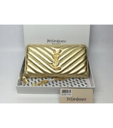 Женский кошелек Yves Saint Laurent (Ив Сен Лоран) Gold