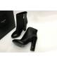 Женские ботильоны Yves Saint Laurent (Ив Сен Лоран) кожаные на молнии Black